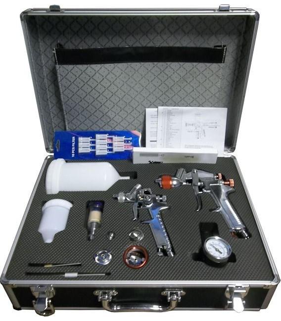 kit valigetta pistola a spruzzo per carrozzeria pistola e aerografo. Black Bedroom Furniture Sets. Home Design Ideas