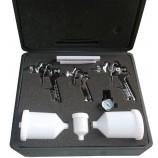 H827 - Kit di 3 pistole a spruzzo 0.8mm-1.4mm-1.7mm