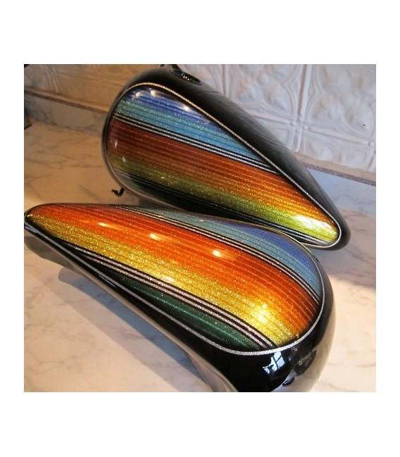 Kit di vernice moto con effetto scintillante