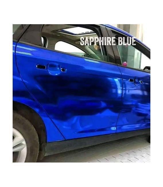 Blu coprente Cromo qualità premium OEM auto- rullo 1.52m x 18m