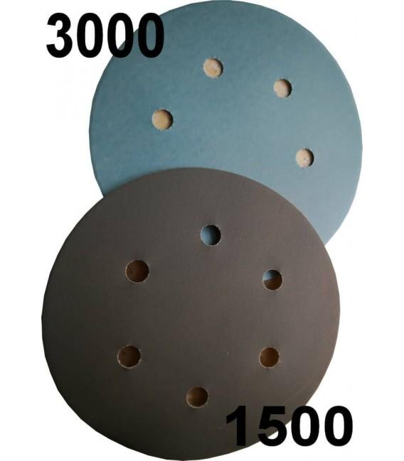 Dischi per levigatura velcro grana 1500 o 3000