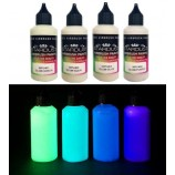 Serie Glow – 4 vernici fosforescenti Acriliche-PU per aerografo