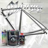 Vernice effetto cromato per bici – kit completo colore a scelta